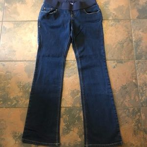 Old navy maternity jeans size 2 low rise boot cut